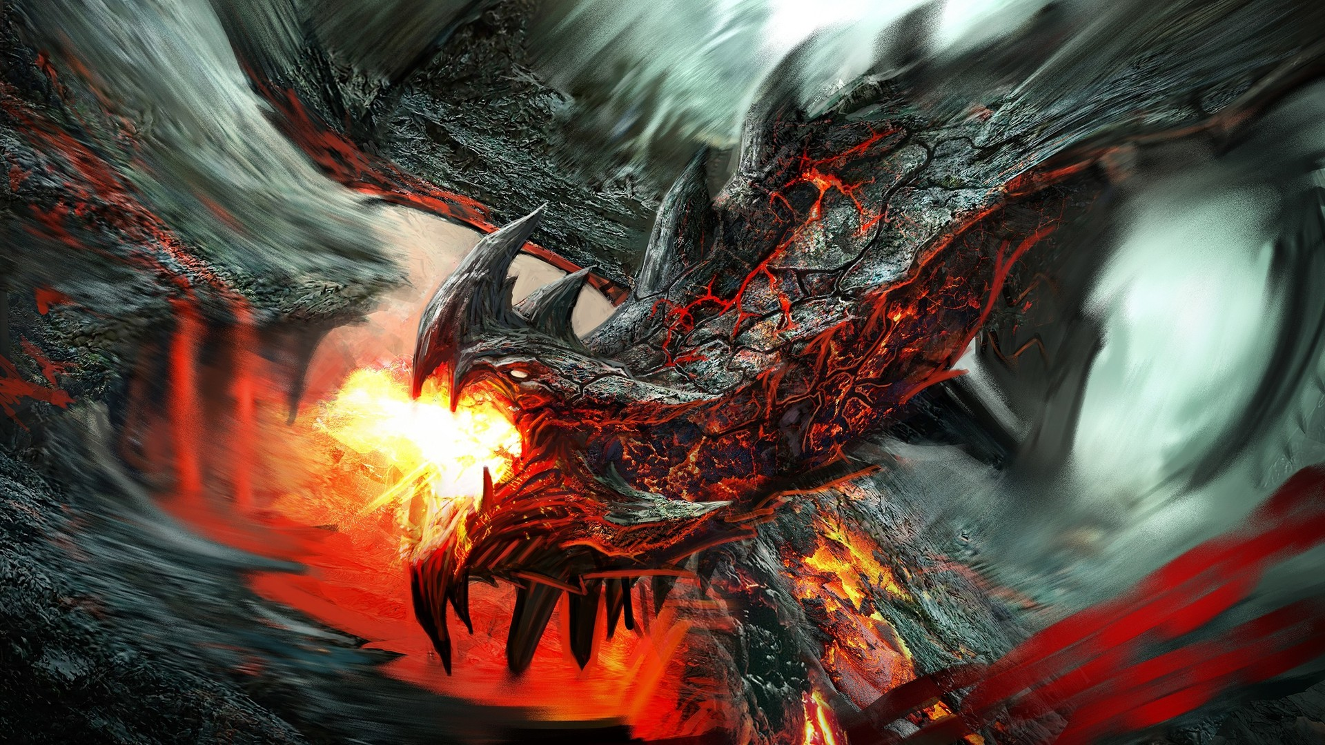 Fire Lava Dragon