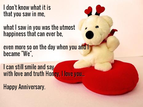 Cute ecard happy anniversary wish ~ inspiring quotes and words in life