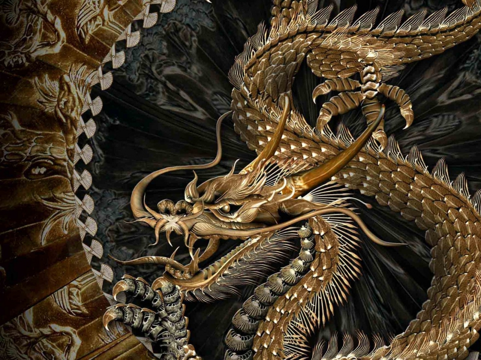 Top 50 hd dragon wallpapers images backgrounds desktop - Ancient chinese art wallpaper ...