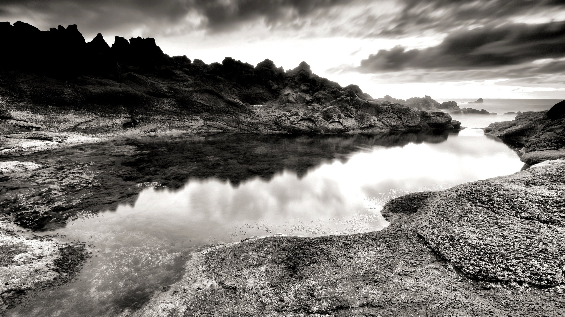 Black And White Nature HD Wallpaper For Windows