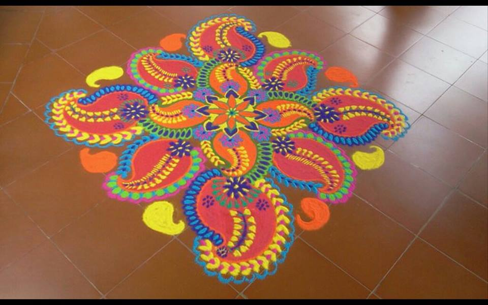 Top 20 + Latest Simple Kolam Designs With Dots Images