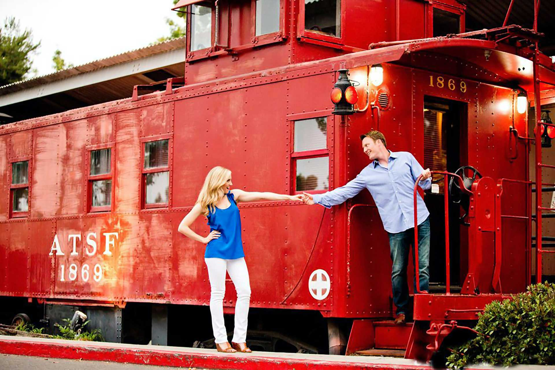 couple on train images