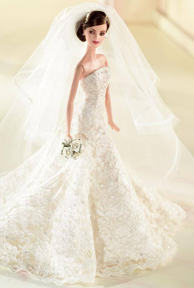 Top 80 best beautiful cute barbie doll hd wallpapers for Wedding dresses for barbie dolls