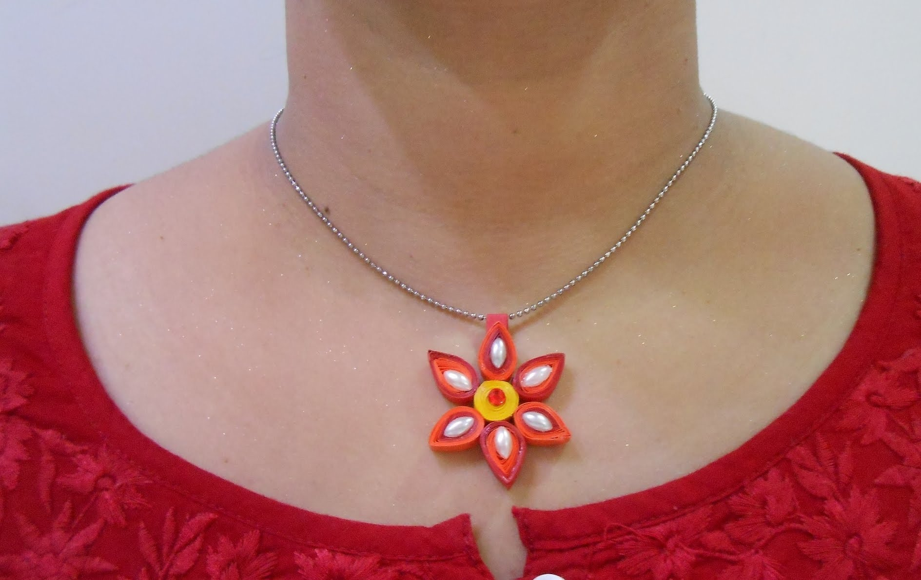 paper quilling necklace design images