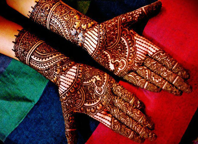 Rajasthani Bridal Mehndi Designs Pictures : Latest groom marriage mehndi designs for hands