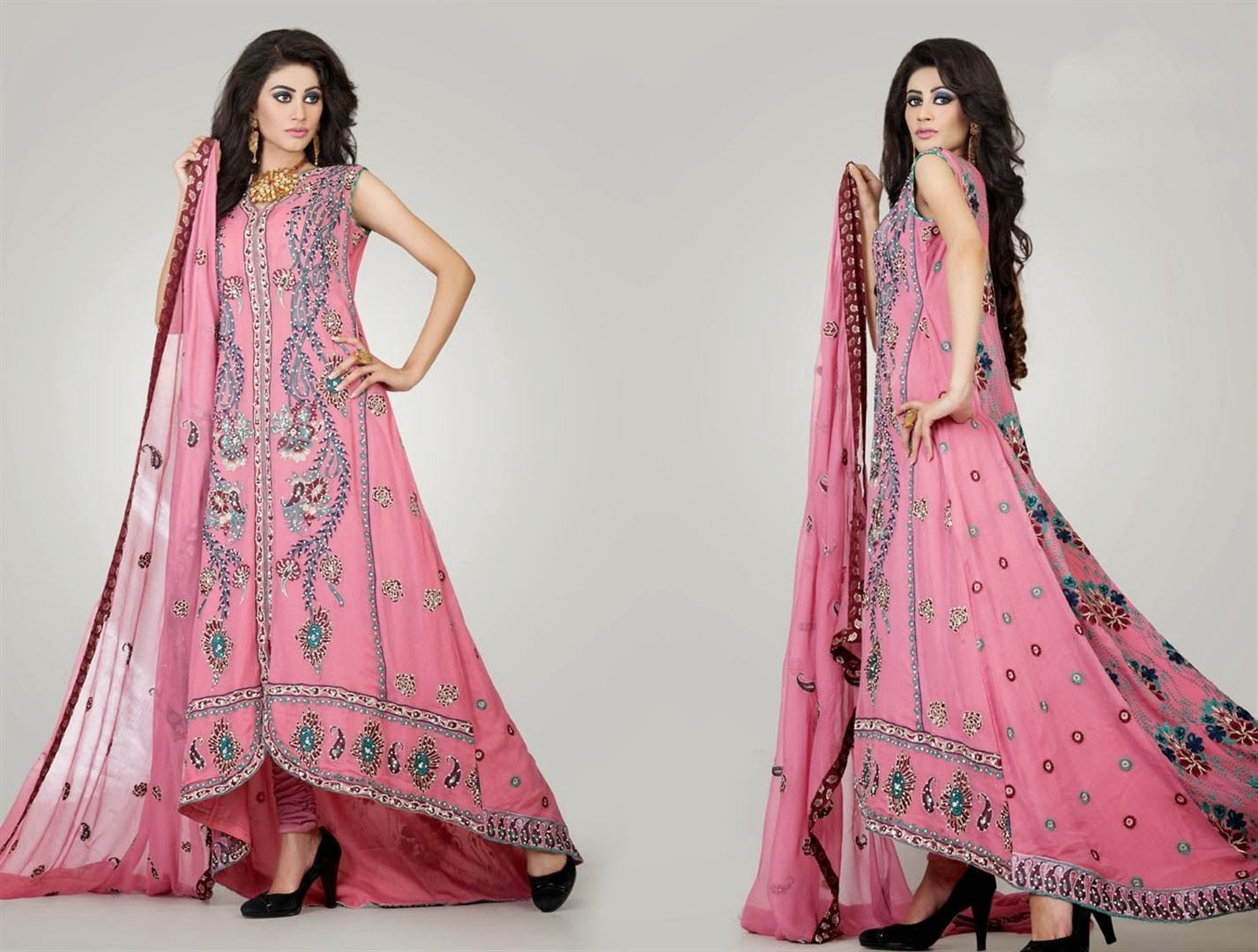 Latest pakistani dresses designs for wedding party for Wedding party dresses for girl