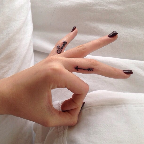 Black Tiny Bat Tattoo On Finger: Top 100+ Best Tattoo Designs For Girls And Women