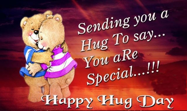 happy hug day 3d images