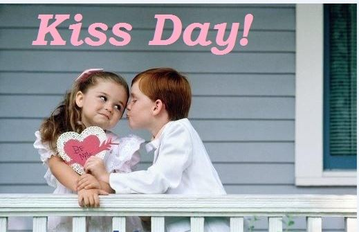 happy kiss day whats app dp