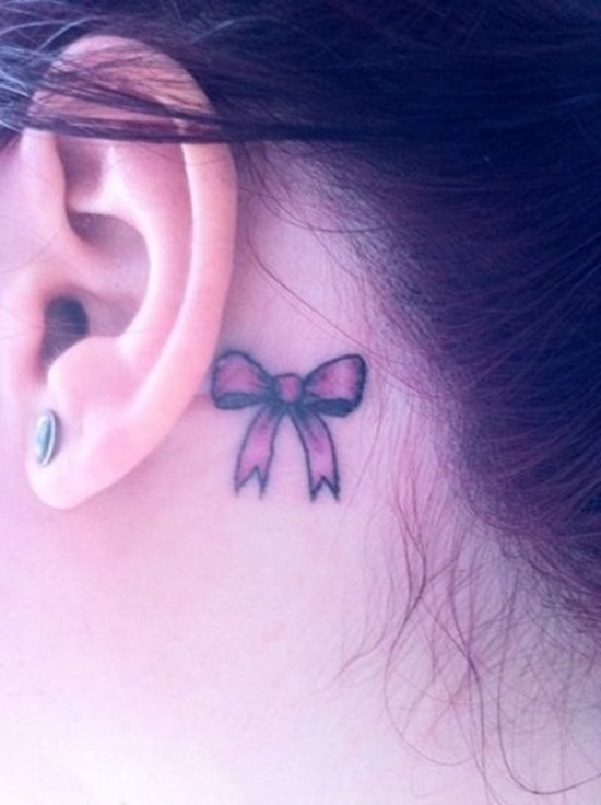 small tattoo designs behind the ear