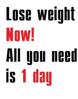 How To Loose Weight In One Day