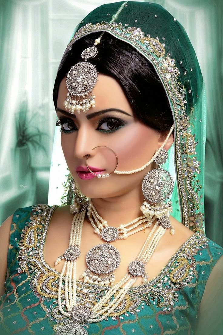 pakistani bridal nose rings