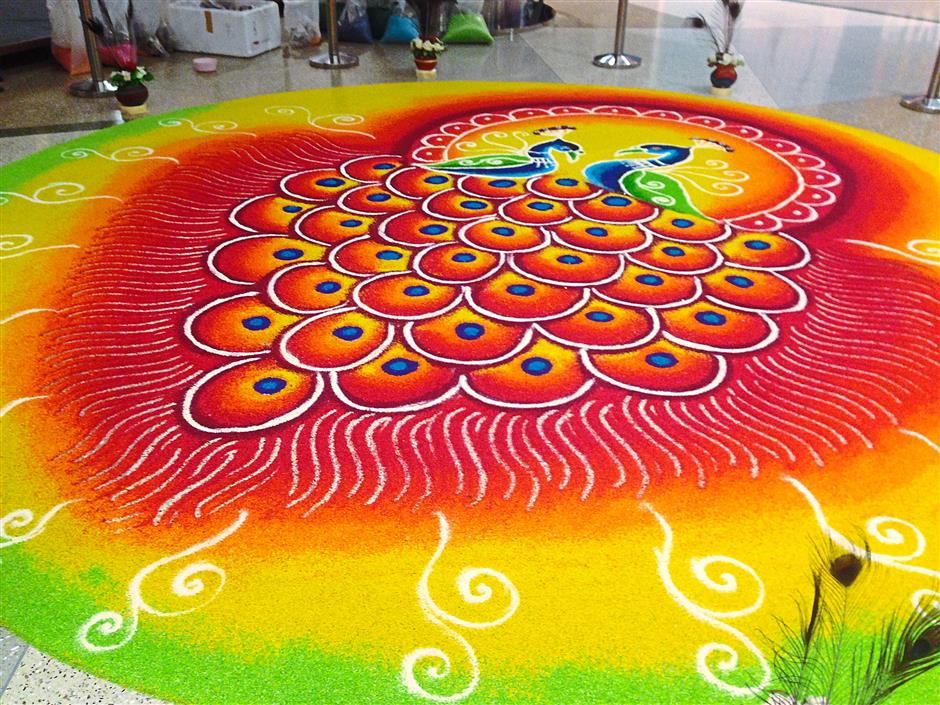 latest rangoli design for diwali