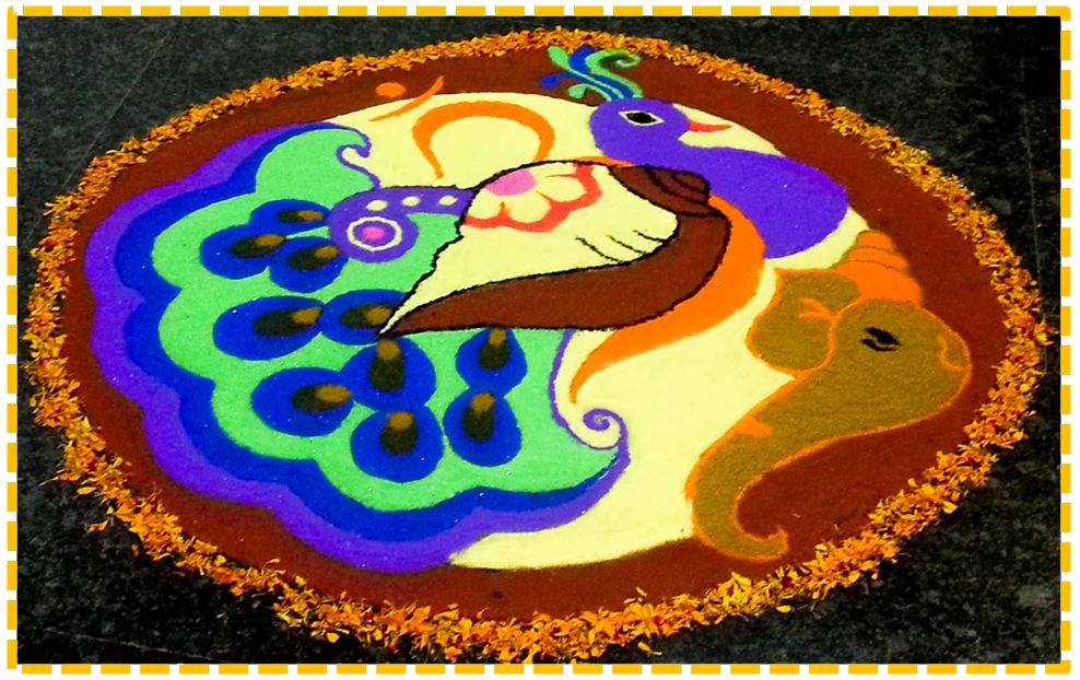 rangoli designs for kids