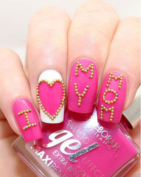 mother day nail art