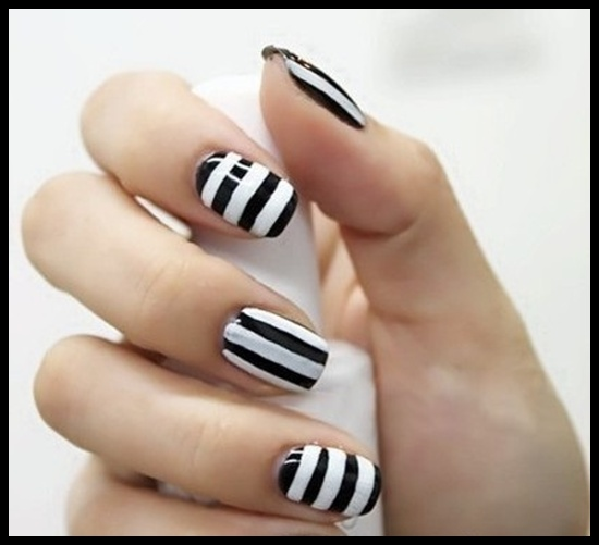 Simple Line Nail Art : Simple nail art designs ideas that you must try at