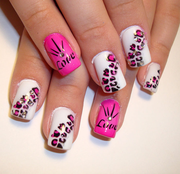 valentines day special nail art