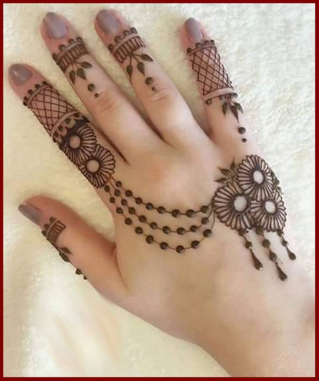 Mehndi Front Hand Design : Top latest arabic mehendi design pictures for hands