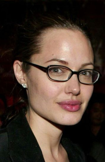 Angelina Without Makeup Spects Looking Beautiful