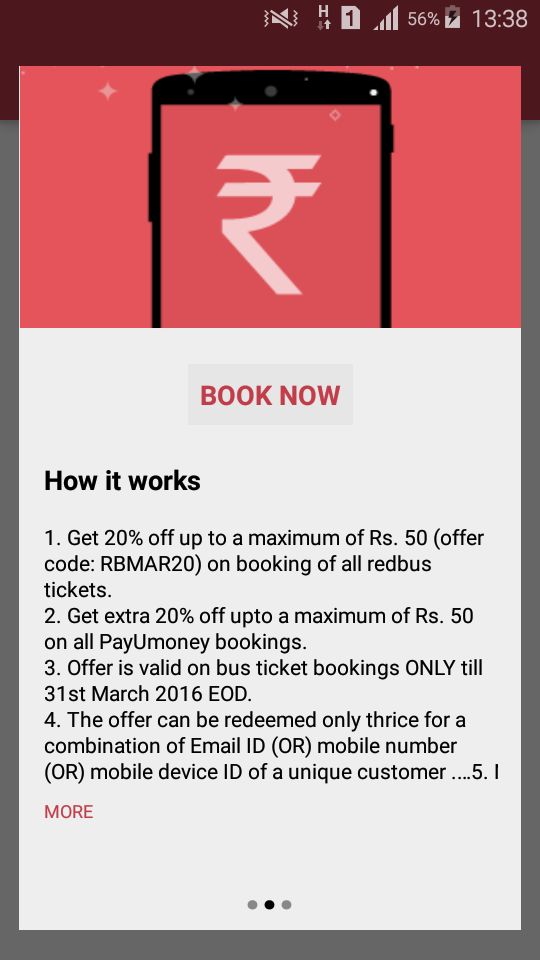Red Bus Promo code red bus discount coupon red bus free tickets red bus coupon code free bus ticket booking Steps to Book Bus Ticket