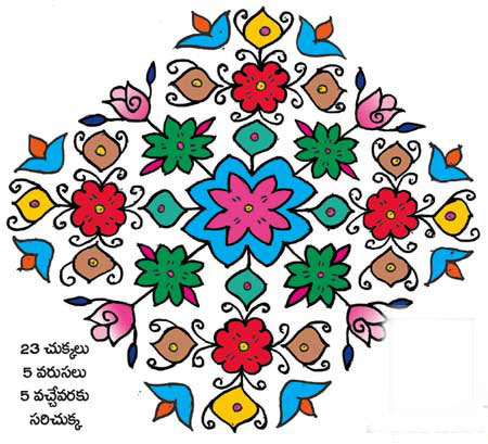 best telugu rangoli designs