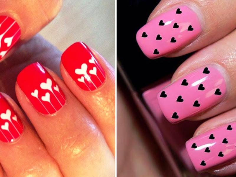 How to do nail art easily at home for beginners step by step tutorial - Easy nail design ideas to do at home ...