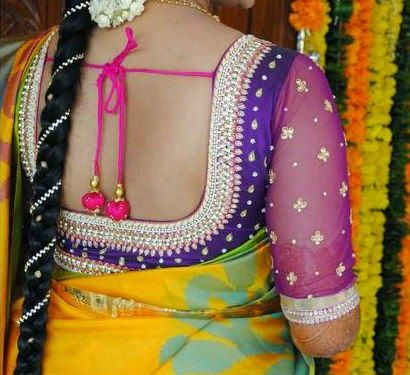 embroidered blouse design