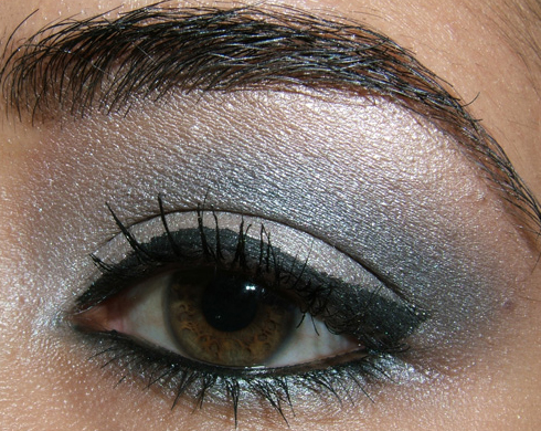 grey black eye makeup