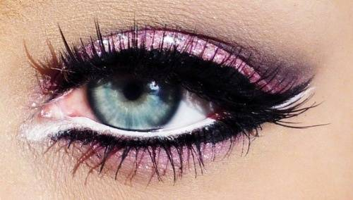 light pink eye make up