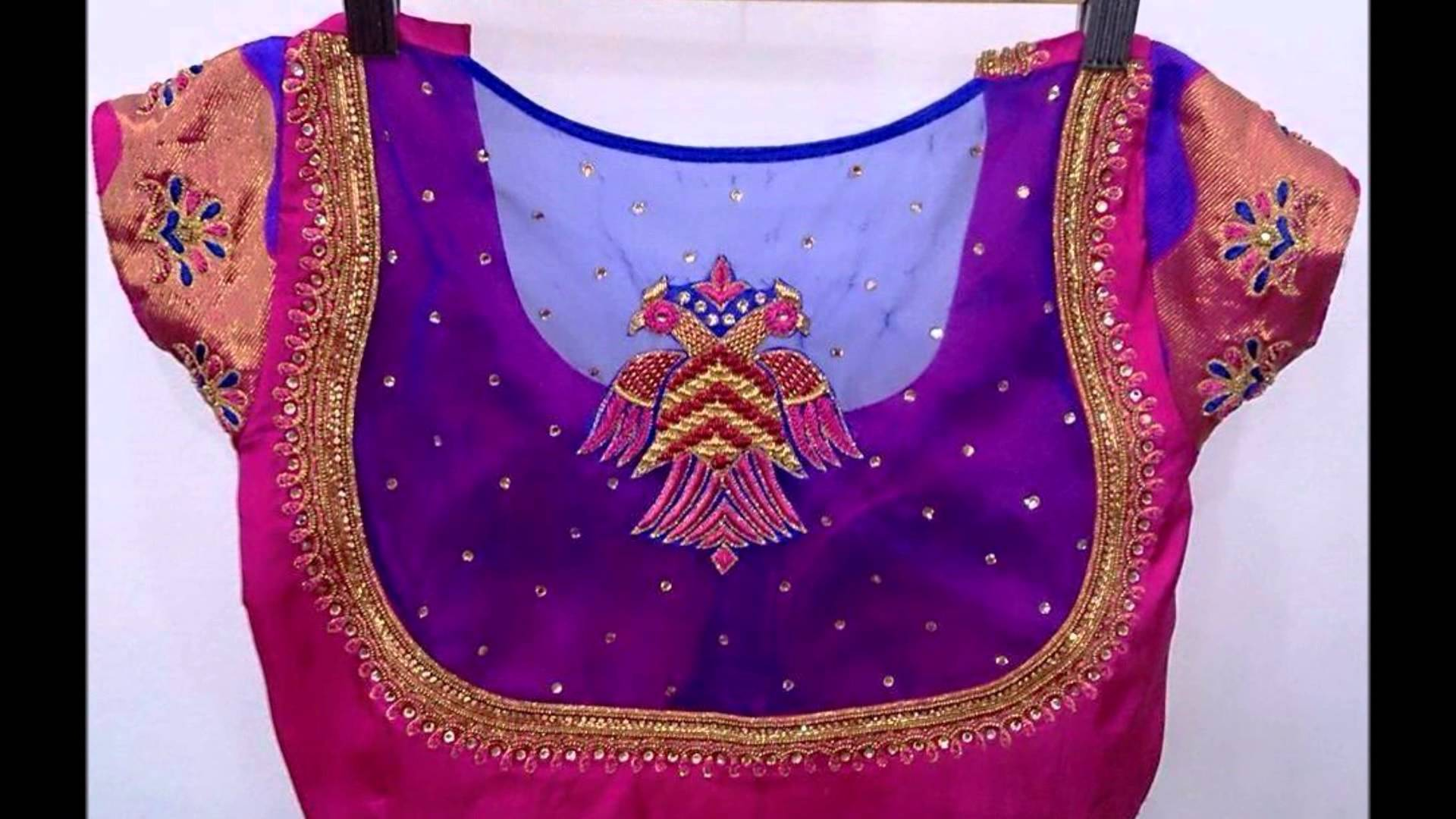 top 25 indian wedding blouse design for silk saree images