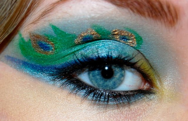 peacock eye make up images
