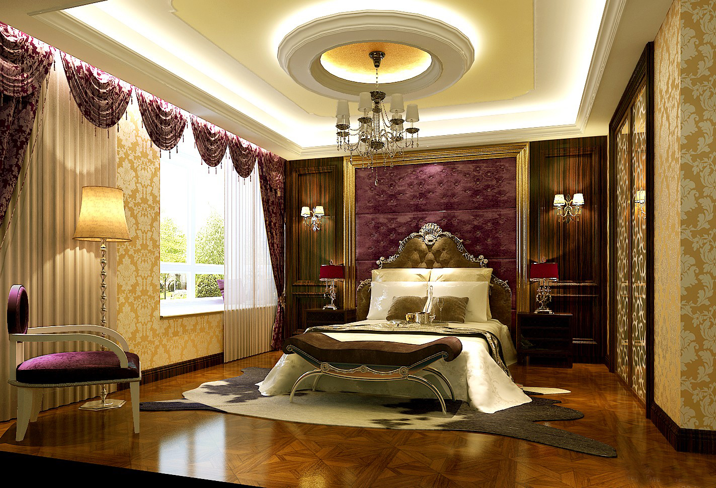 25 latest false designs for living room bed room for Latest interior of bedroom