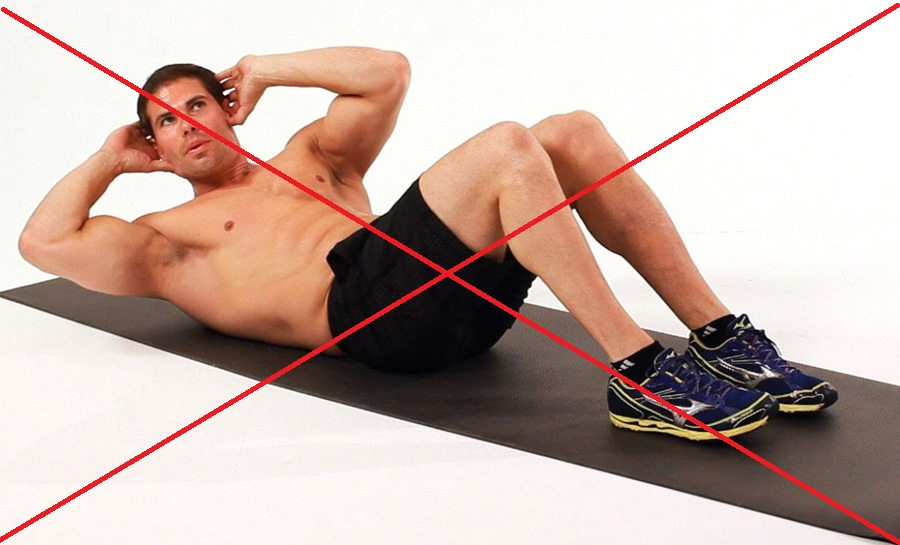 stop doing crunches
