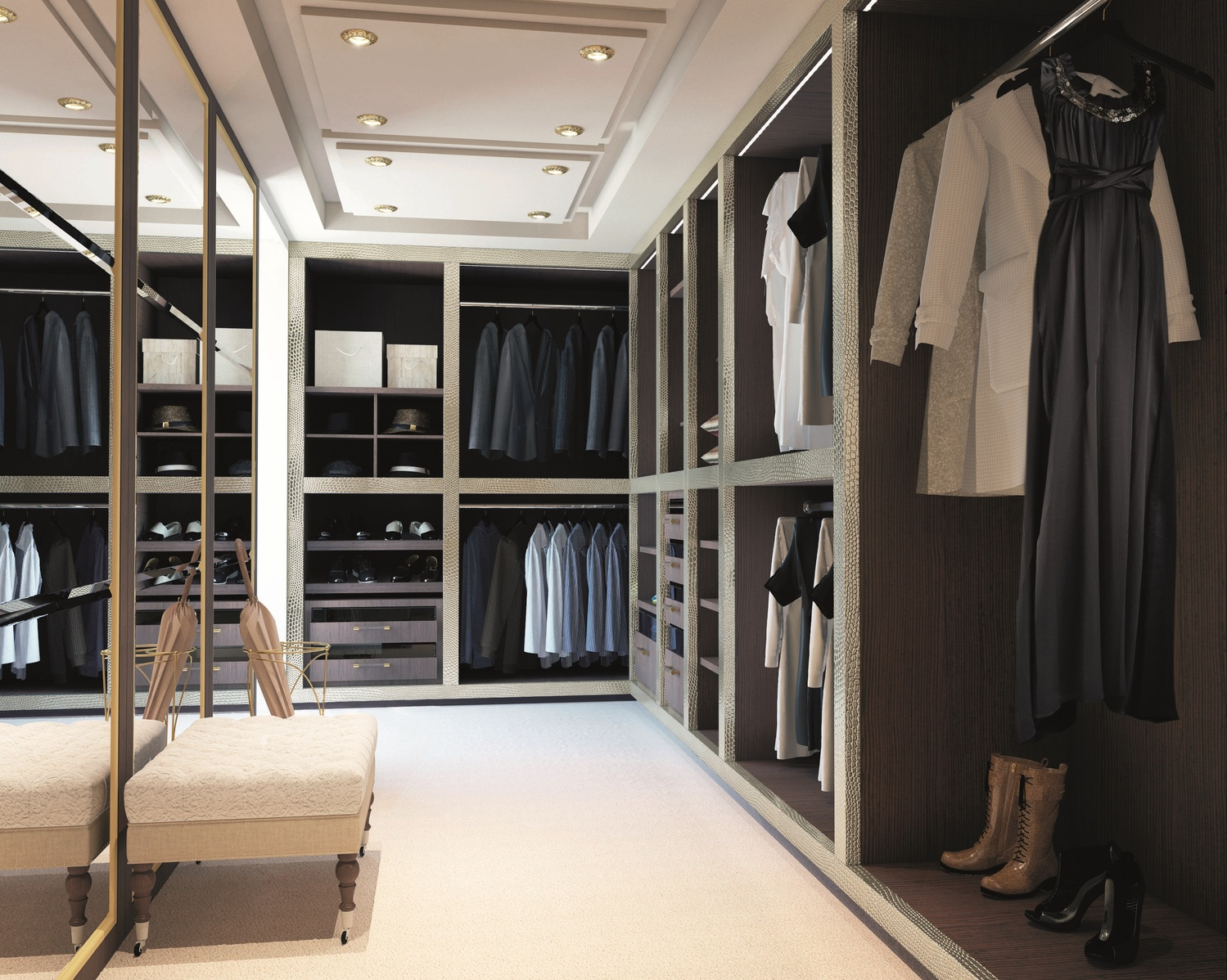 35 images of wardrobe designs for bedrooms for Bedroom walk in closet designs