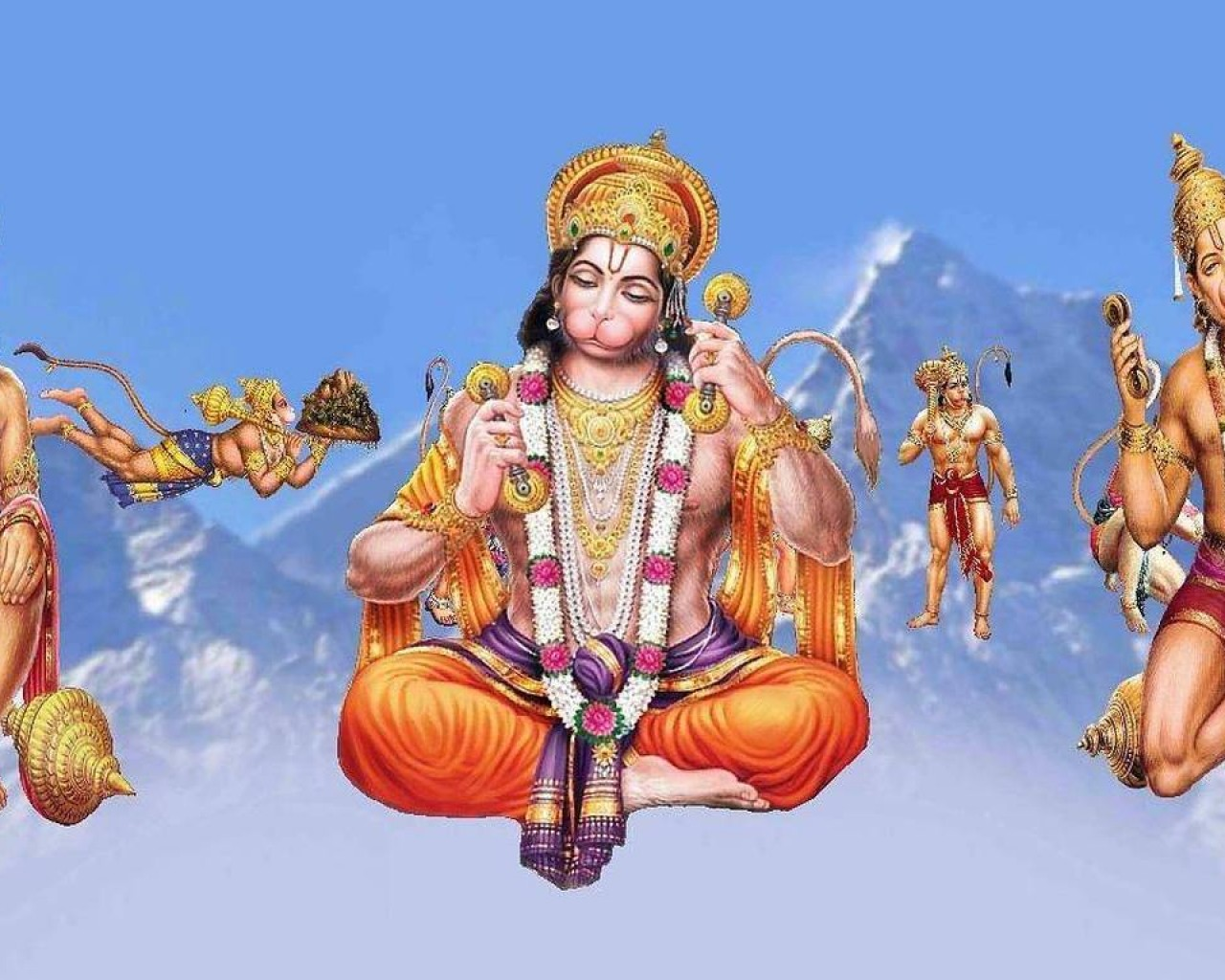 Hanuman Ji Different Positions HD wallpapers