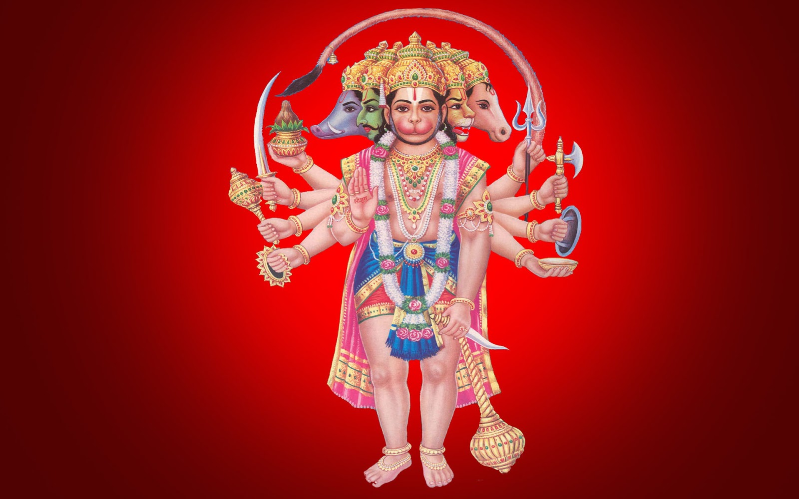Panchmukhi Hanuman ji Wallpapers