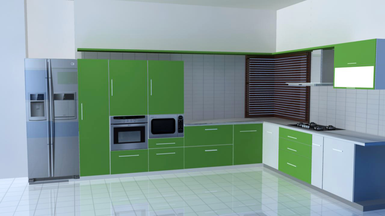 25 latest design ideas of modular kitchen pictures for Best material for kitchen cabinets in india