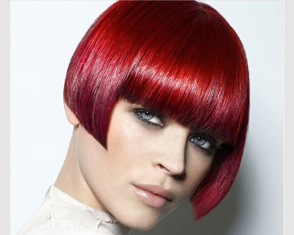 red blone bob hairstyle