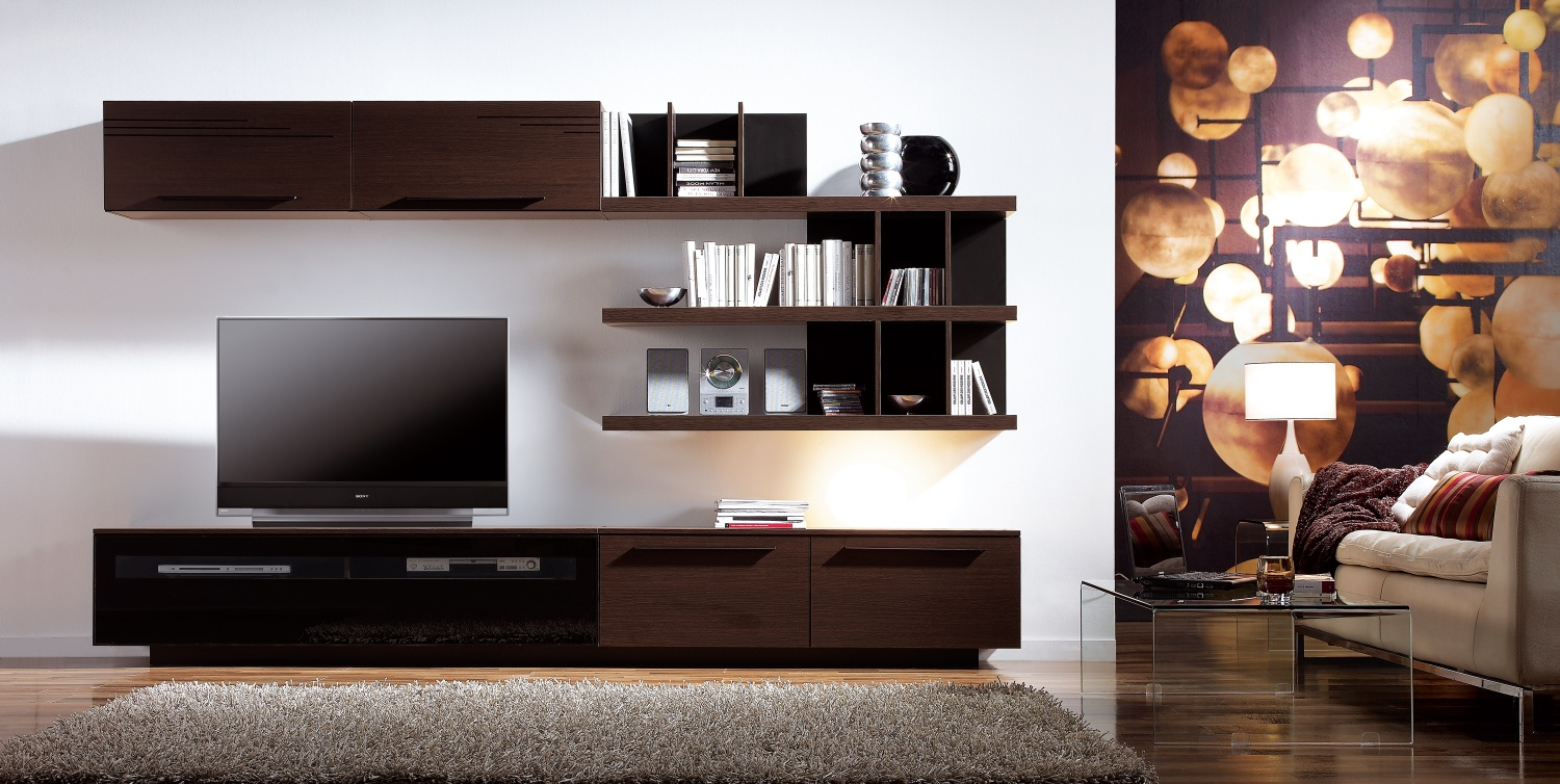 20 modern tv unit design ideas for bedroom living room for Modern cabinets for living room