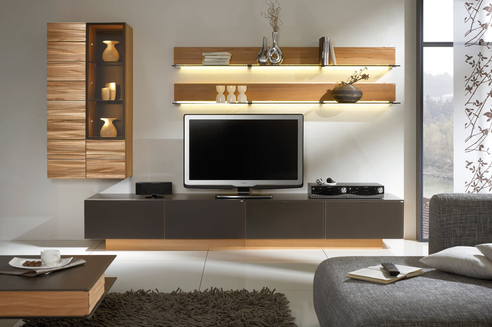 20 modern tv unit design ideas for bedroom living room for Small tv room design ideas