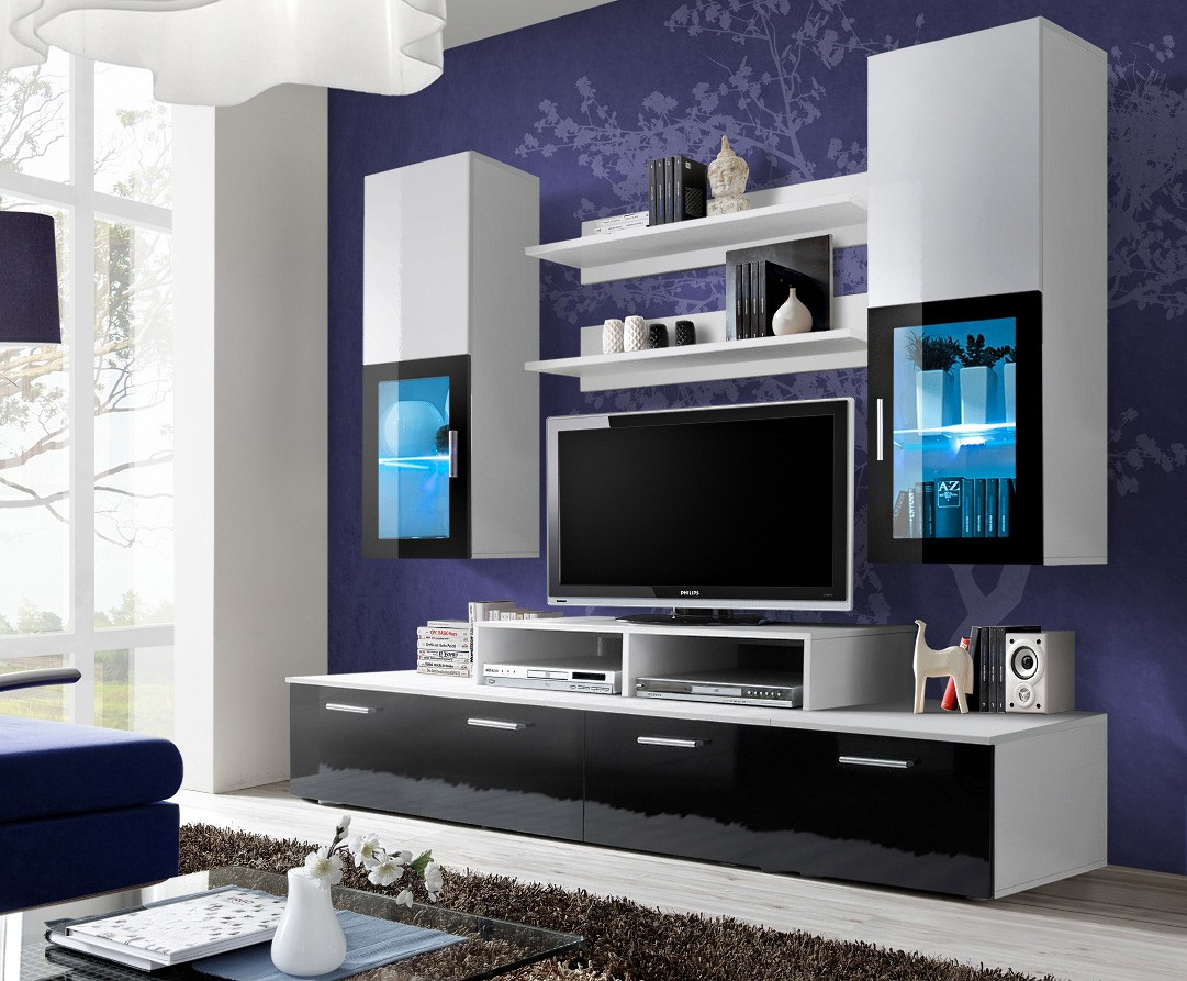 20 modern tv unit design ideas for bedroom living room for Tv cabinet designs for hall