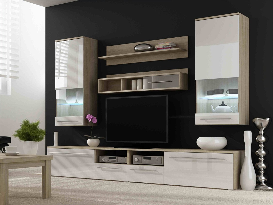 20 modern tv unit design ideas for bedroom living room for Lounge cabinets