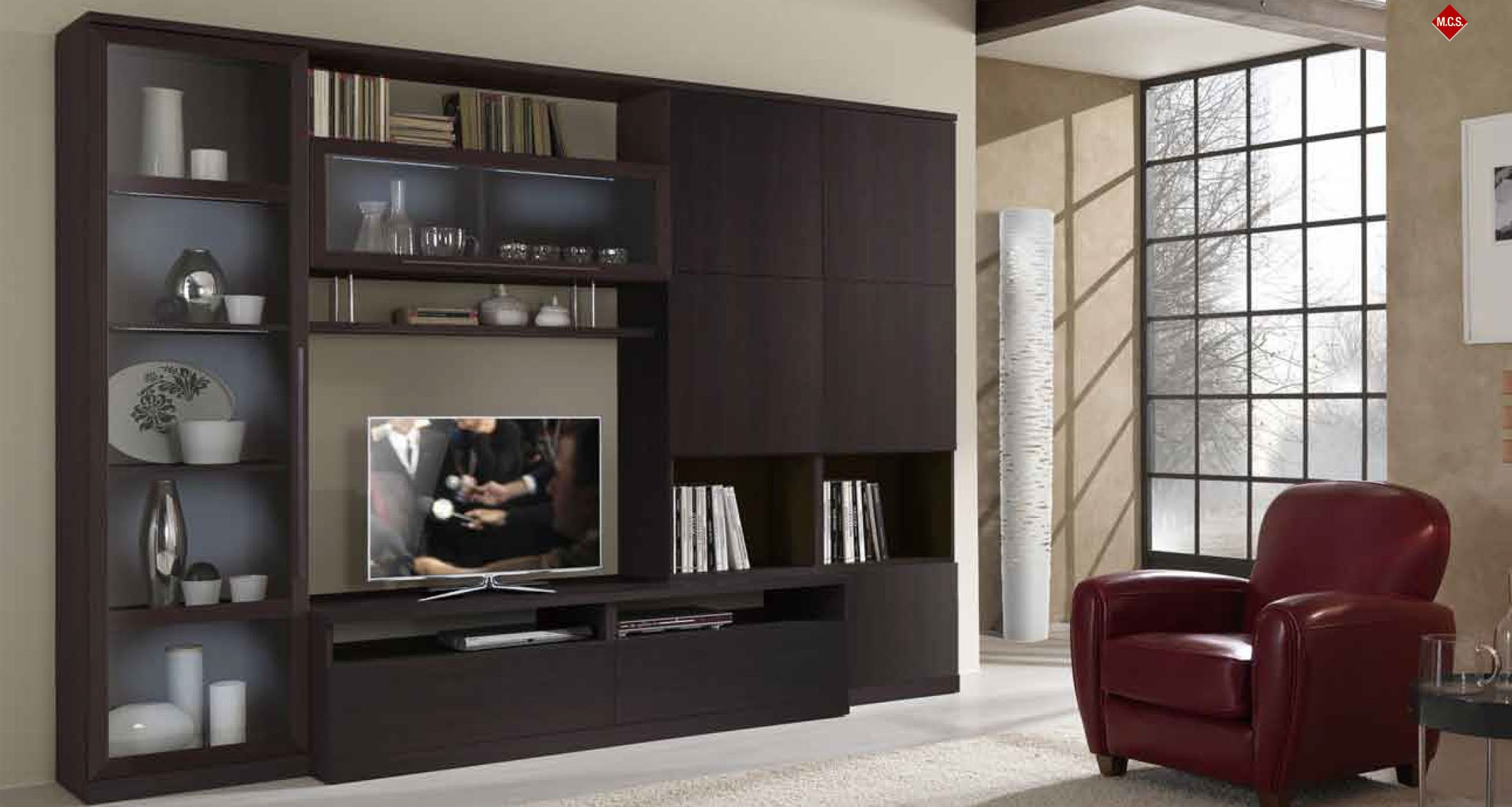 20 modern tv unit design ideas for bedroom living room for Wall mounted tv cabinet design ideas