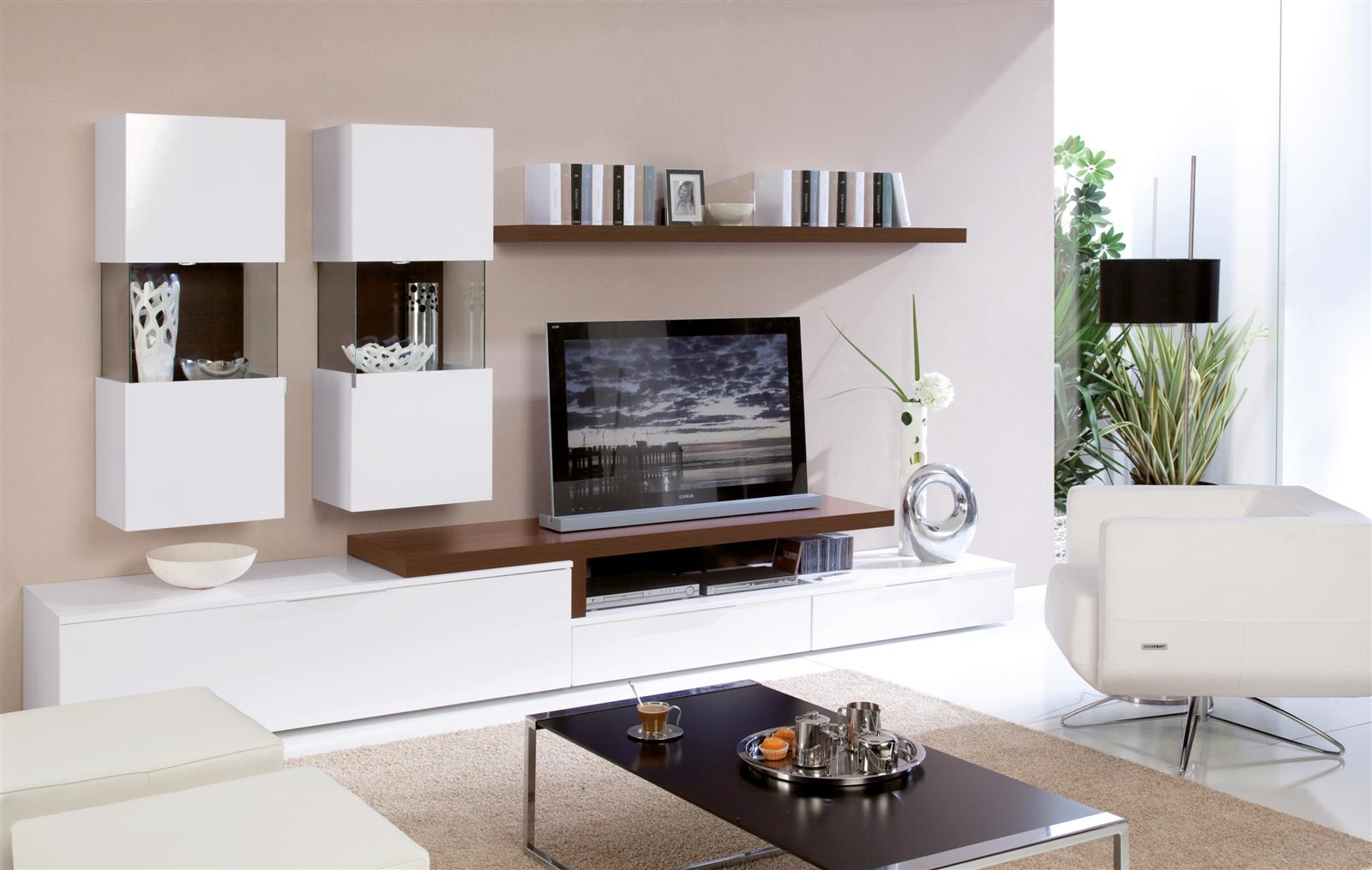 20 modern tv unit design ideas for bedroom living room for Modern living room wall