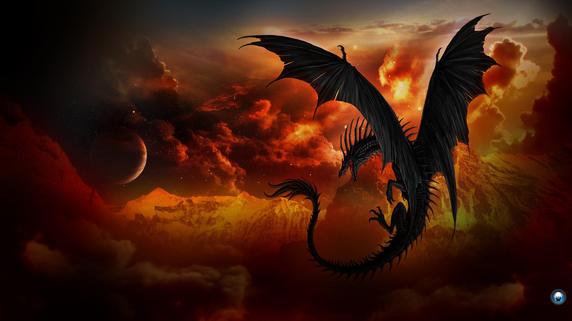 Black-Dragon- Wallpaper