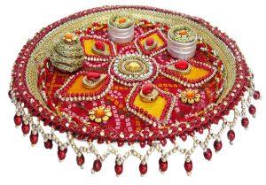 karva chauth pooja thali