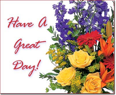 flowers good day messages images