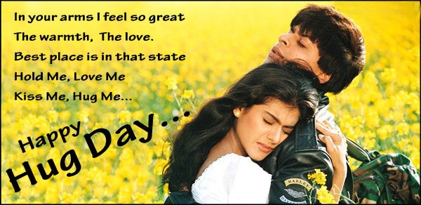 happy hug day images in bollywood style