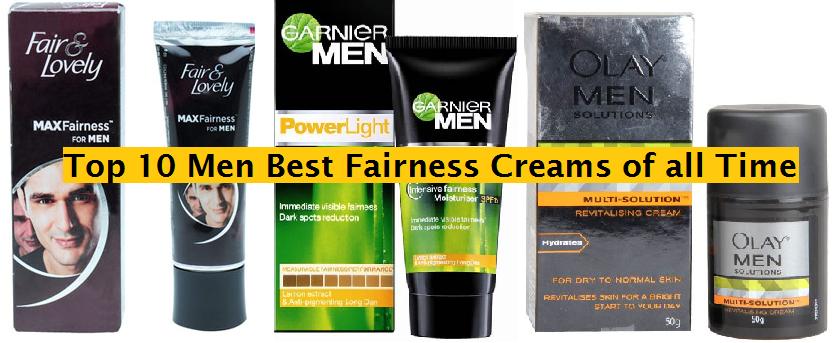 best fairness creams for men in india