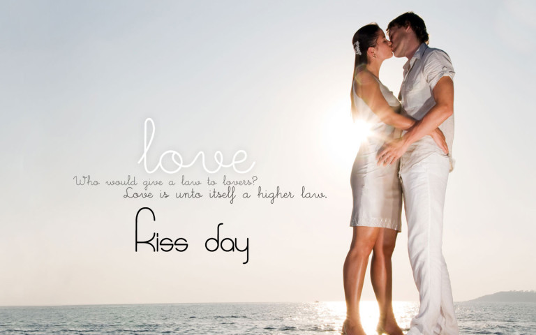 kiss day lovely wallpapers